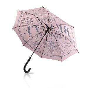 Beautycarousel-Regenschirm in Rosé