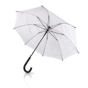 Beautycarousel-Regenschirm in Weiß